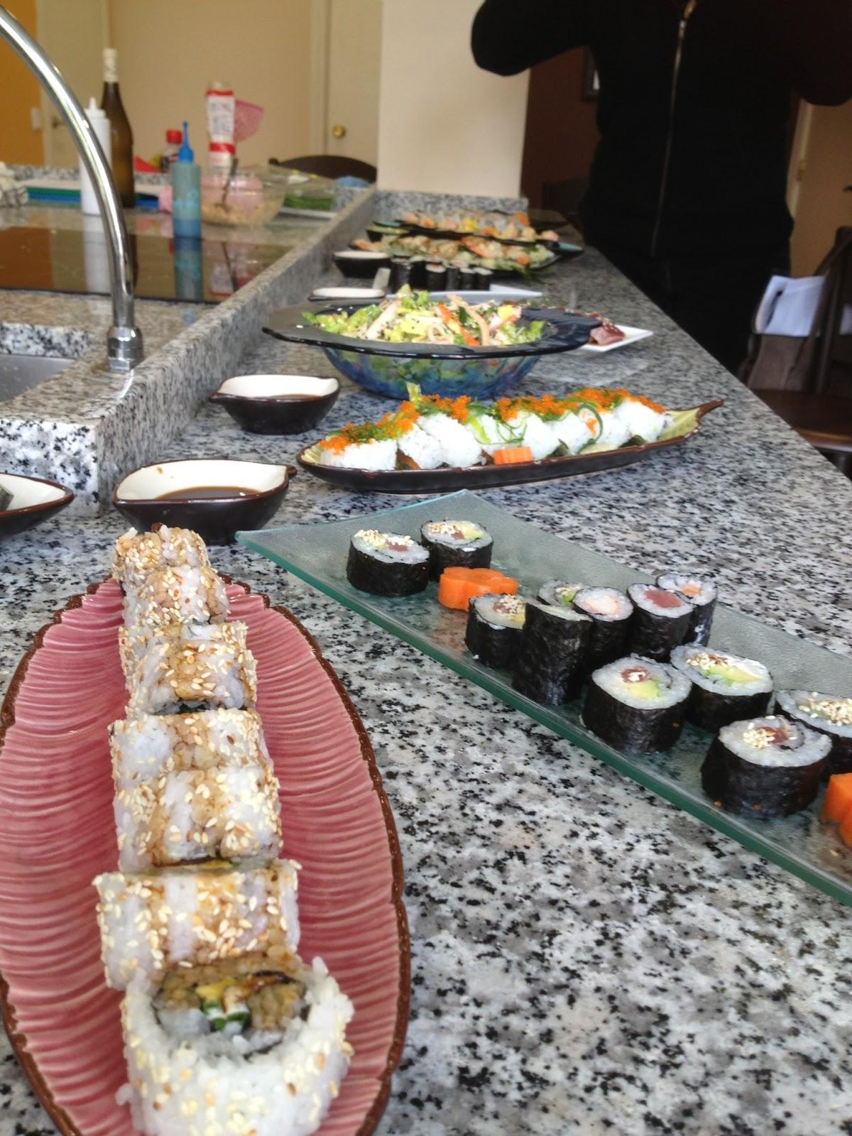Gastronom a los naranjos fotos del curso de sushi - Cursos de cocina en barcelona para principiantes ...