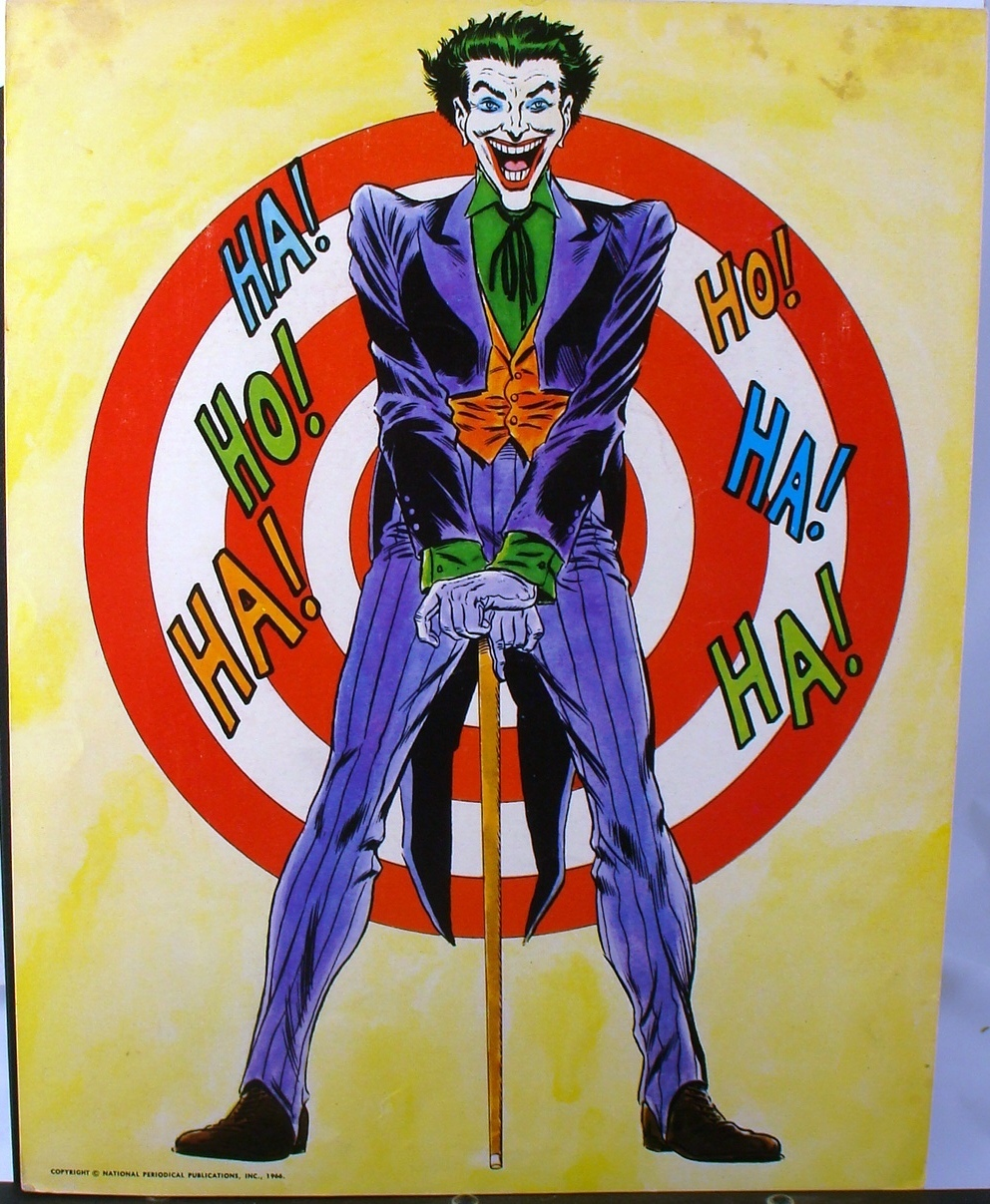 The classic Carmine Infantino Batman and Robin poster, plus the Joker. Joker Comic Poster