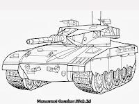 Lembar Mewarnai Gambar Mobil Tank