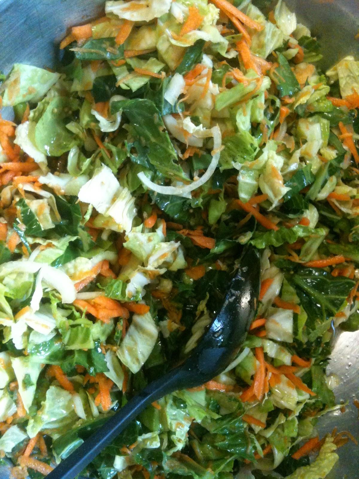 Deconstructed coleslaw.
