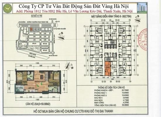 Chung cư Đại Thanh CT8 59,88m2