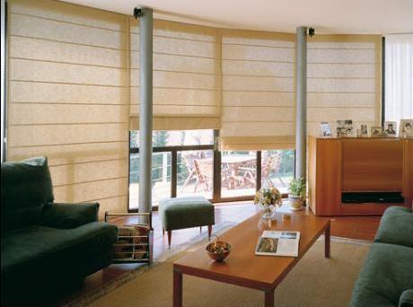 Decoraci n minimalista y contempor nea ambientes con - Cortinas tipo persianas ...
