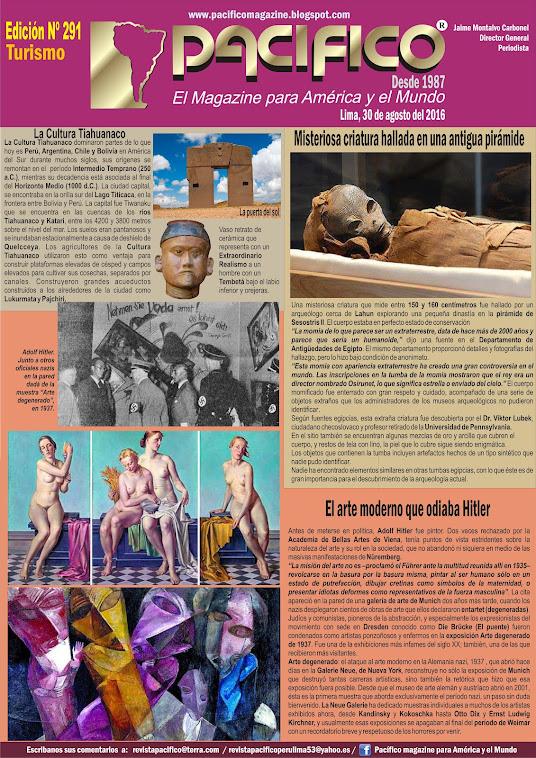 Revista Pacifico Nº 291 Turismo