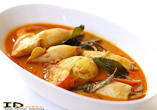 resep untuk memasak gulai sotong