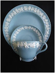 WEDGWOOD QUEENS WARE CUP,SAUCER & SIDE PLATE ETRURIA