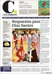 09/04/2020      COLOMBIA  UNA  PRIMERA PÁGINA DE LA PRENSA