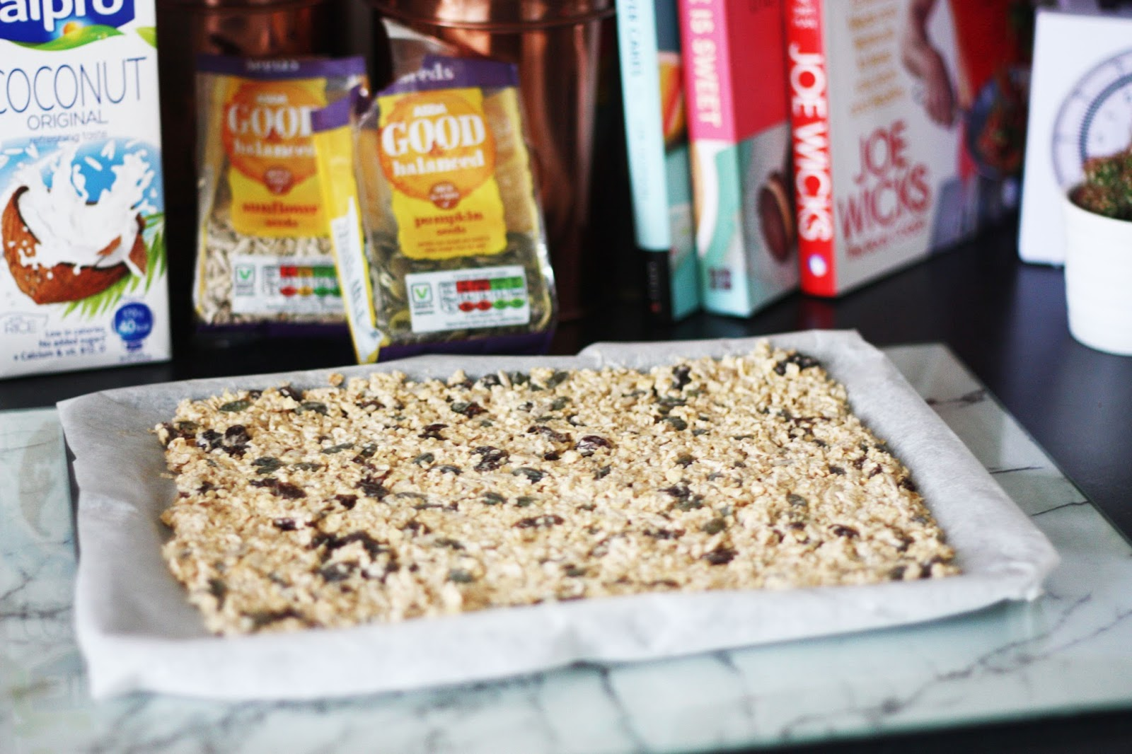 Healthy easy meals cheat free fruit nut flapjacks uk for Alpro coconut cuisine