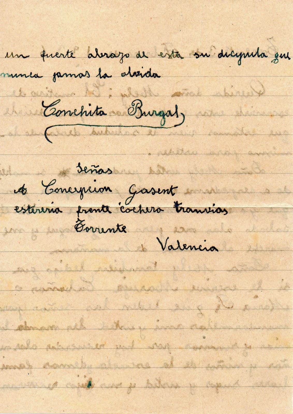 Melitina Álvaro Blázquez - 1936 - Carta de alumna y 2