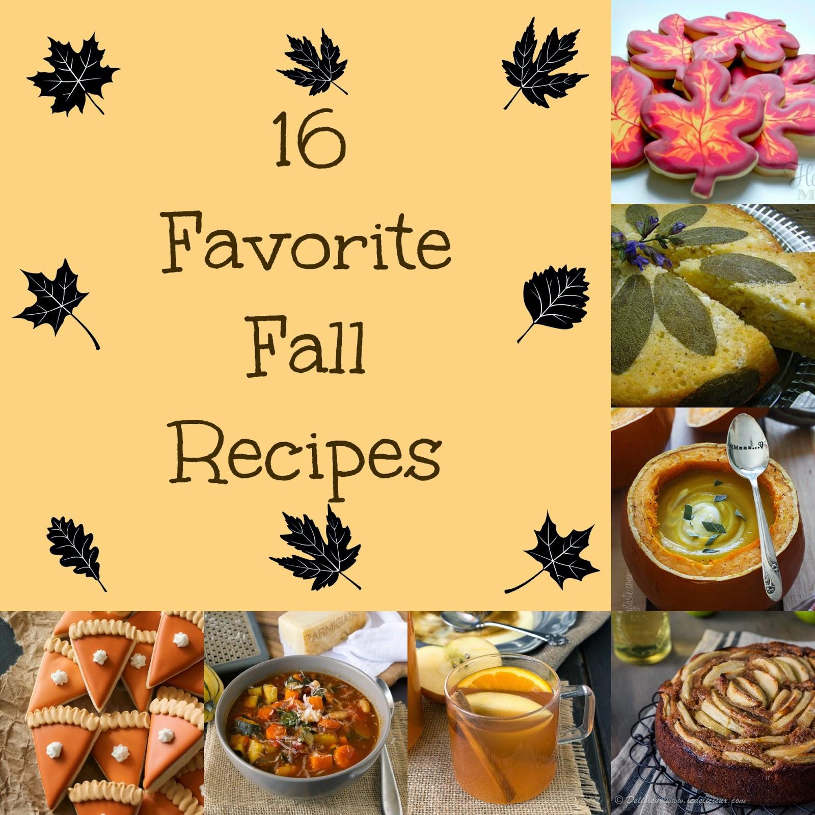 16 Favorite Fall Recipes