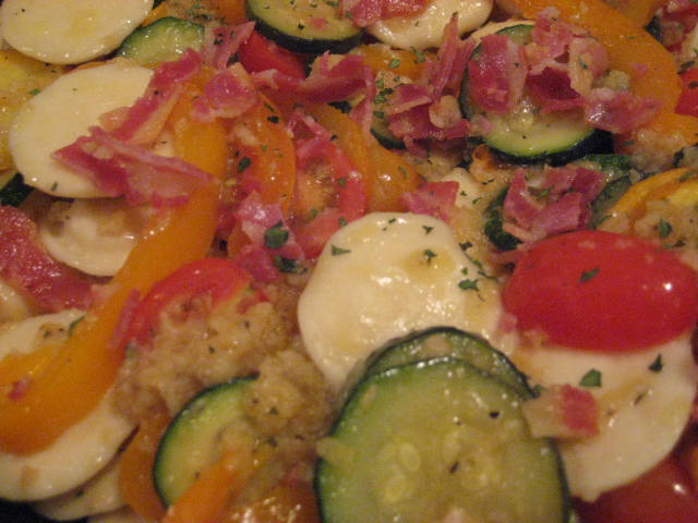 ... Zucchini, Yellow Pepper, Cherry Tomatoes and Panko Bread Crumbs