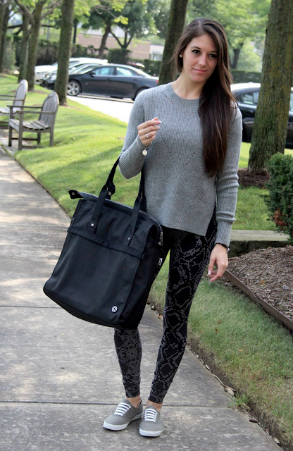 Seva Sweater, Ziggy Snake High Rise Wunder Under Pants, Follow Your Bliss Bag