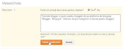 Meta descriere blog