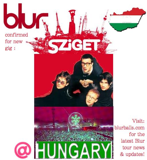 blur hungary, blur budapest, blur szeiget festival 2013