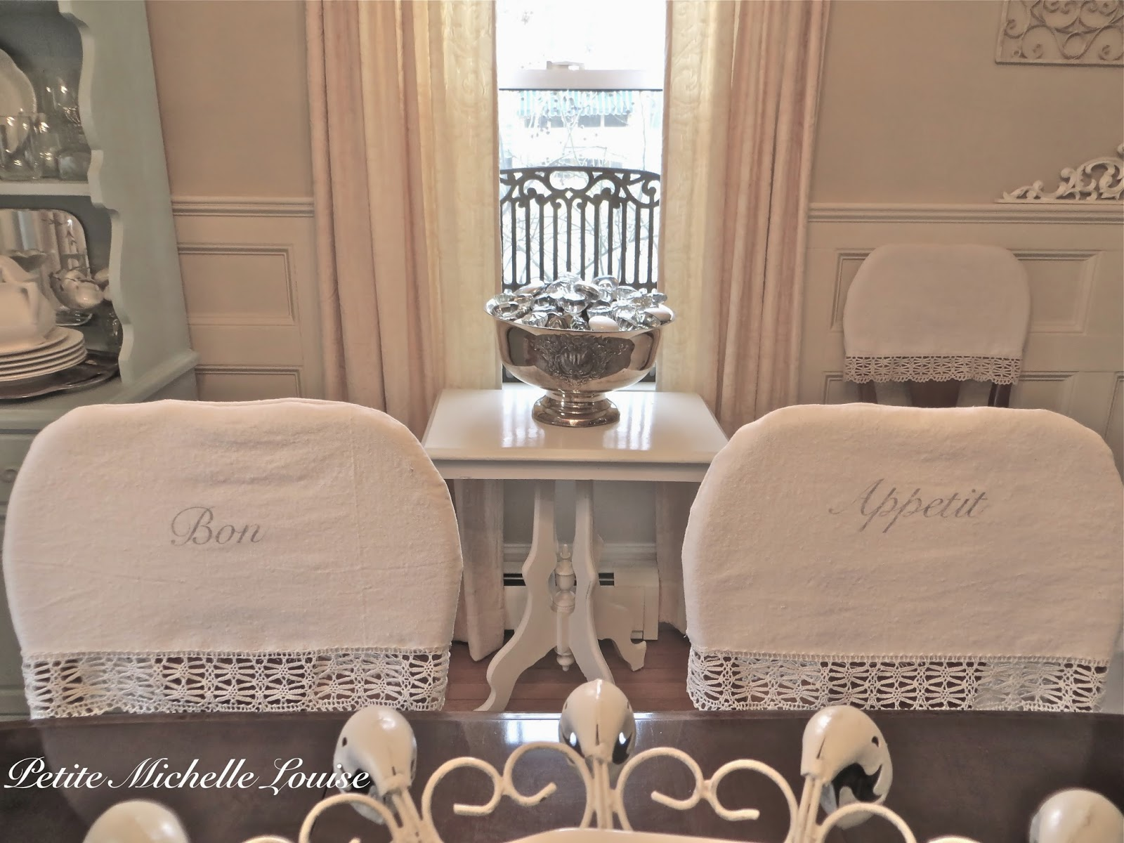 Petite Michelle Louise DIY Dining Room Chair Back Covers