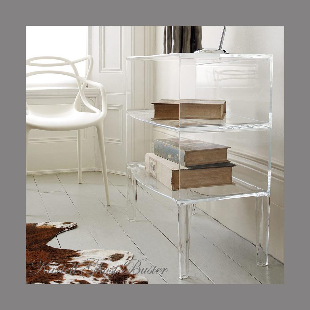 kartell crystal ghostbusters 2 shelf table. Black Bedroom Furniture Sets. Home Design Ideas