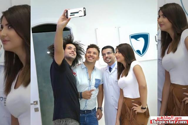 مريم سعيد مع عبد الفتاح جريني والمغني حاتم عمور