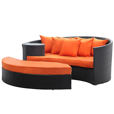 outdoor daybed with ottoman