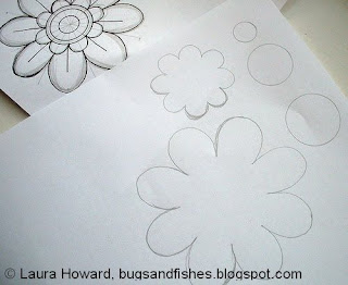 Cara membuat bros jilbab bunga dai kain flanel