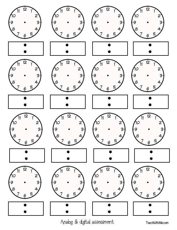 Classroom Freebies: Telling Time to the Hour & Half Hour With Apples