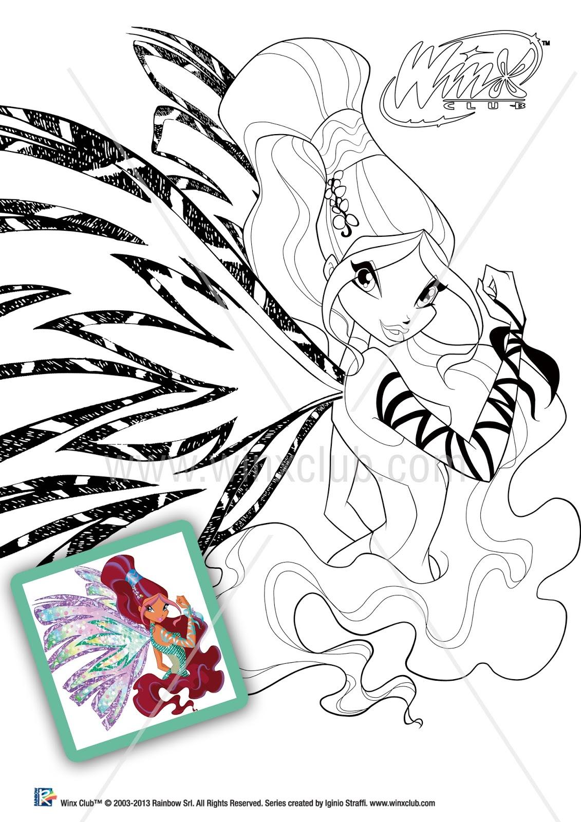 Winx para colorir Winx Club - imagens para colorir das winx