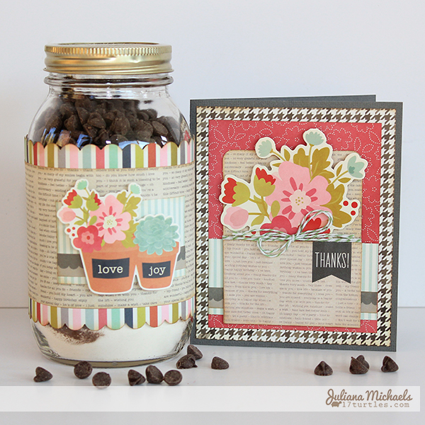 Thank You Jar Brownie Mix and Card by Juliana Michaels
