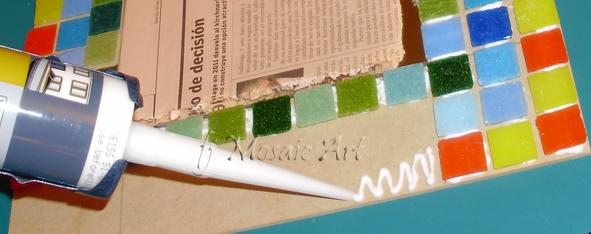 Mosaico creativo de fj mosaic art mosaiquismo metodo - Silicona para exteriores ...