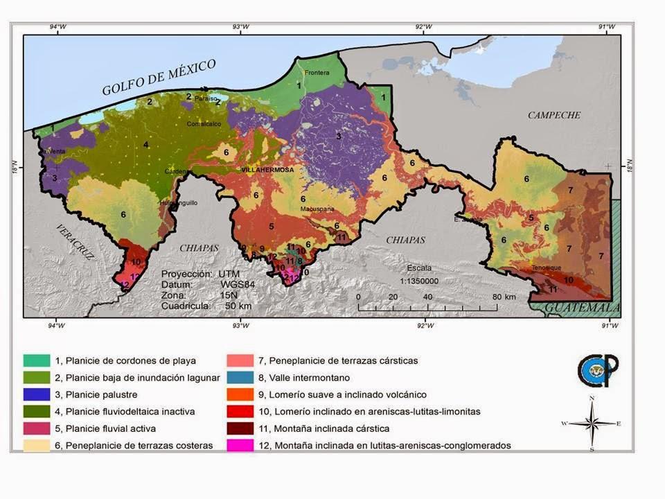 Suelos ambiente y algo ms El mapa geomorfopedolgico de Tabasco