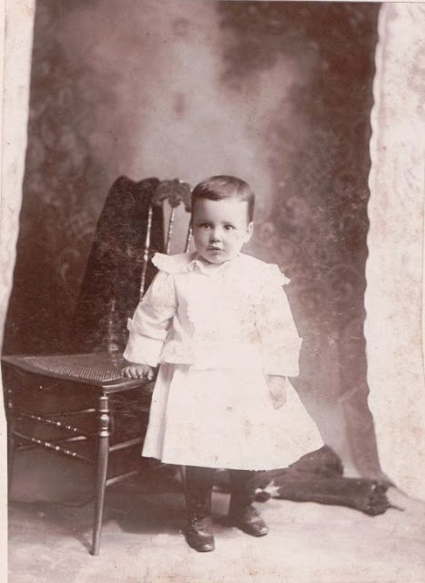 Unidentified child in photo album of Mary Frances Jollett Davis