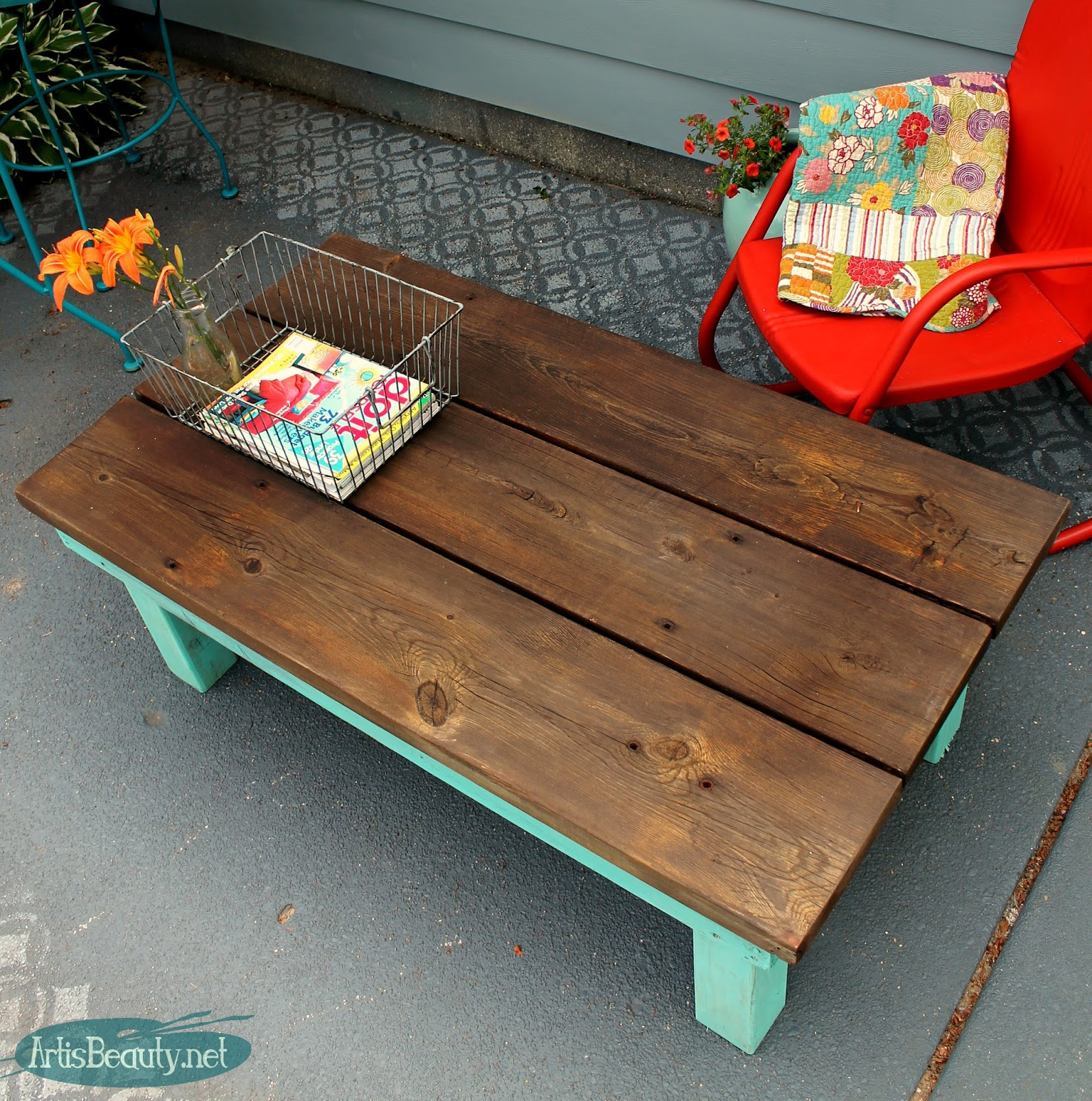 Art Is Beauty Diy Build It Yourself Vintage Farmhouse Style Coffee Table From Rescued Lumber