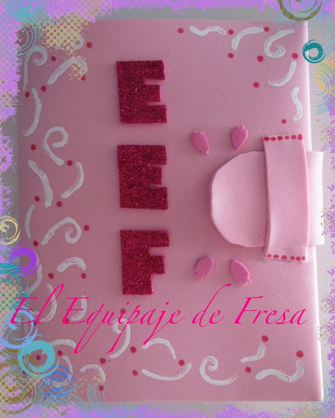 Modelos de cuadernos forrados en foami - Imagui