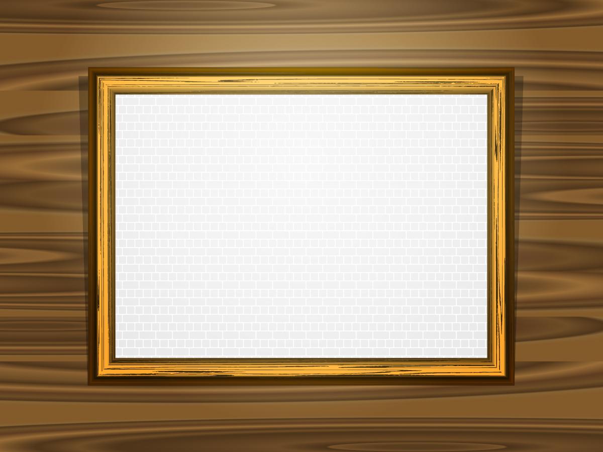基本的な木製の額縁 Classical wood frame texture イラスト素材