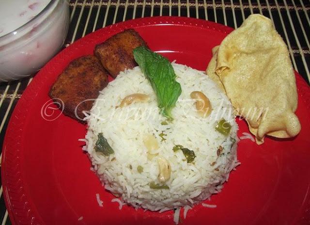 Minty Jeera Rice / Minty -Cumin Rice