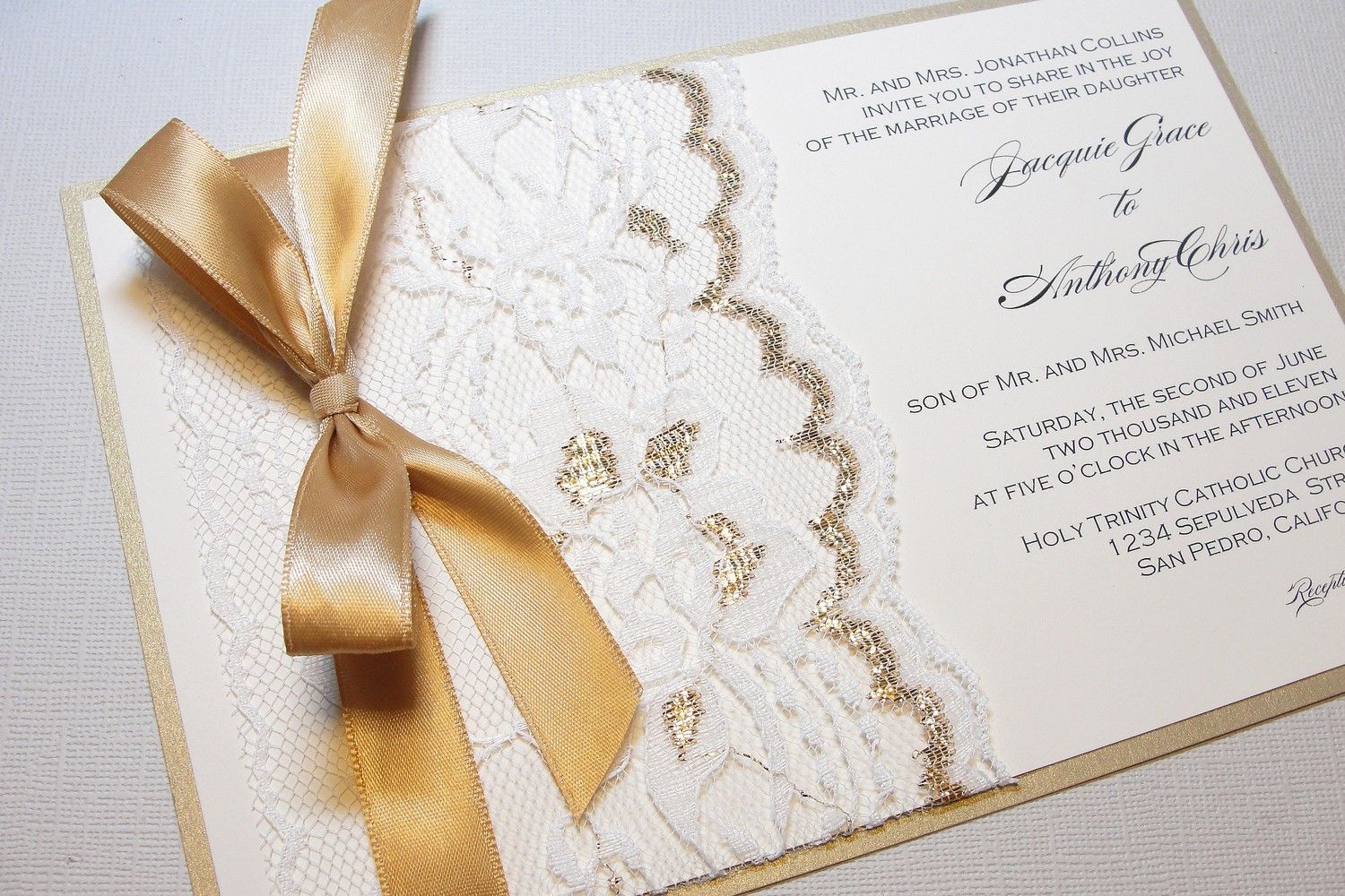 Ribbon Wedding Invitations was very inspiring ideas you may choose for invitation ideas