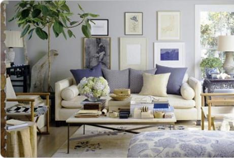 Siette interiores vestida de azul - Colores de salones fotos ...