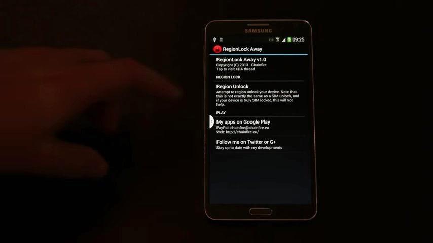 Galaxy Note 3 N9005 bölge kilidi nasıl açılır?