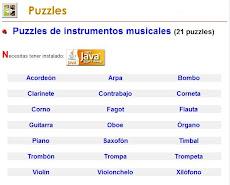 PUZZLES DE INSTRUMENTOS MUSICALES.