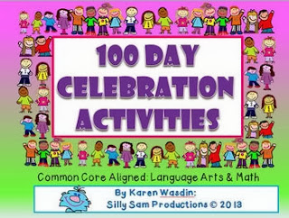 http://www.teacherspayteachers.com/Product/100-Day-Celebration-Activities-Common-Core-Aligned-Language-Arts-Math-1036955