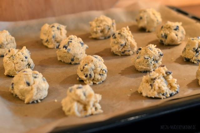 chocolate chip cookies, plätzchen, keks, kekse, schokokekse, vegan, backen, vegane cookies, vegane kekse