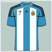 Camiseta de la selección Argentina. Creado y publicado por Nicolás Meli argentina