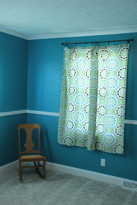 gender-neutral turquoise nursery