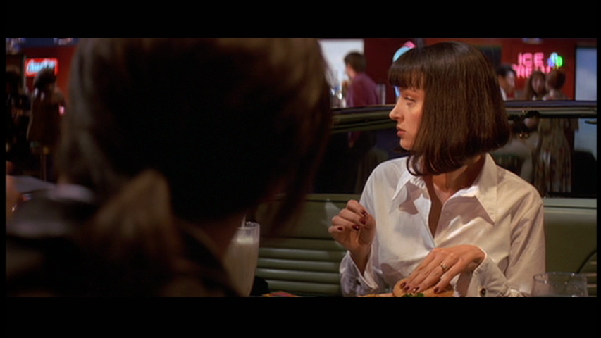 pulp fiction camera angles Cinematography in the breakfast scene of pulp introduction pulp fiction mid shots on both bret and samuel l jackson camera position and angle.