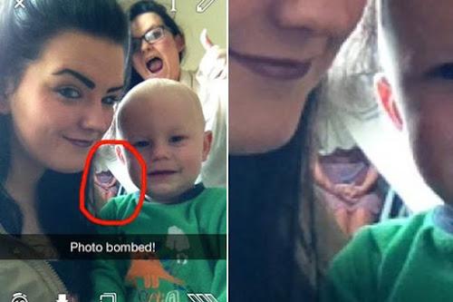 Mulher tira selfie com sobrinho e algo misterioso aparece na imagem! Veja...