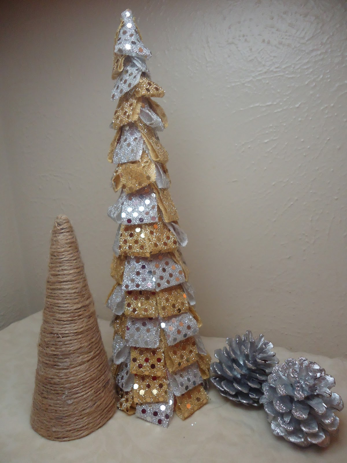 Christmas Decorations Cone Trees : Frugal home design diy cone shaped christmas trees
