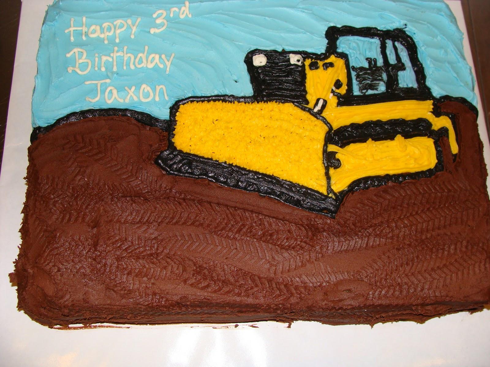 Door County Custom Cakes And Cookies Jaxons Bulldozer Cake