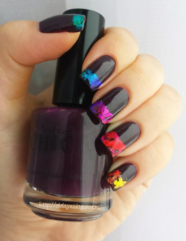 nail foil nail art