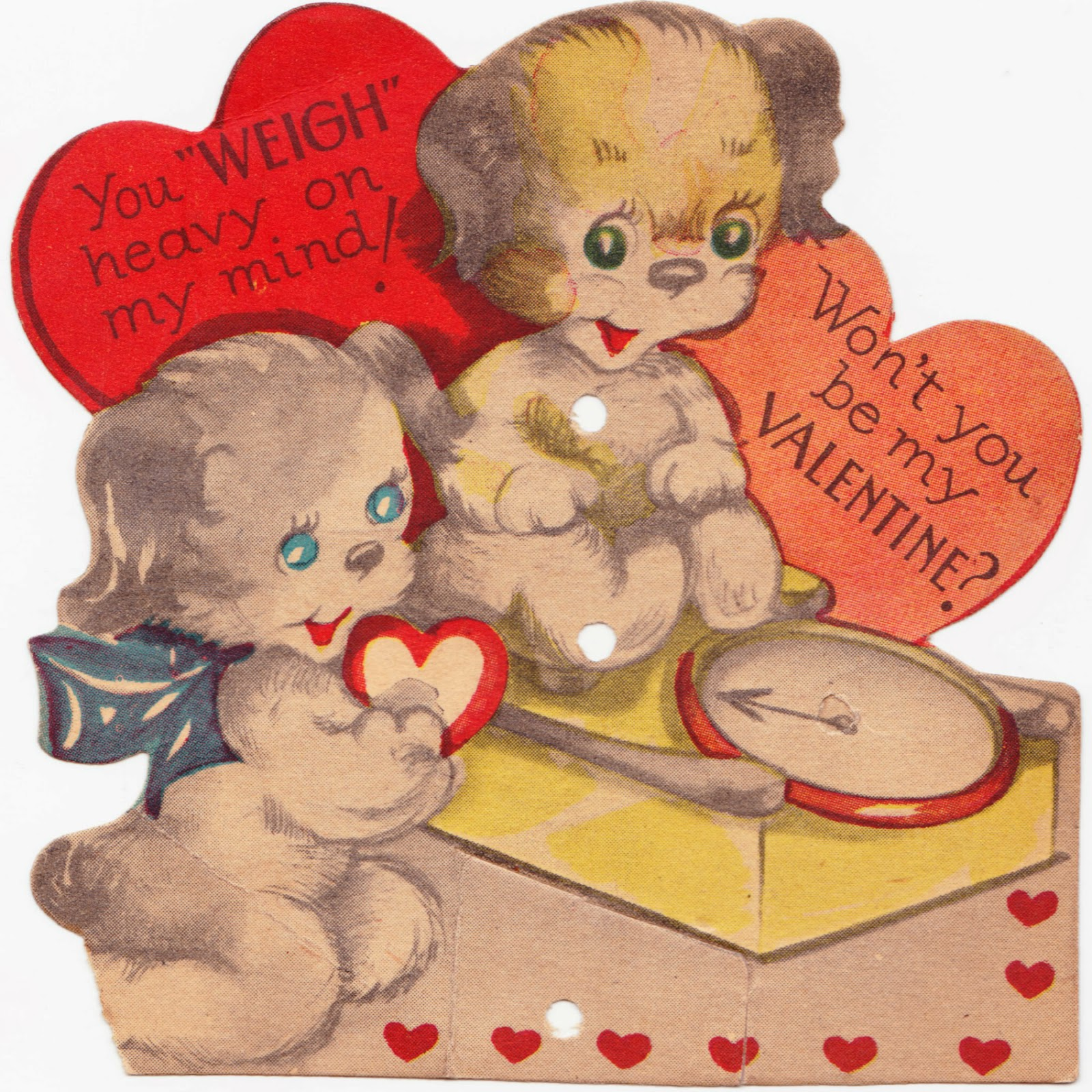 Papergreat Three old Valentines Day cards featuring cute animals – Old Valentines Day Cards