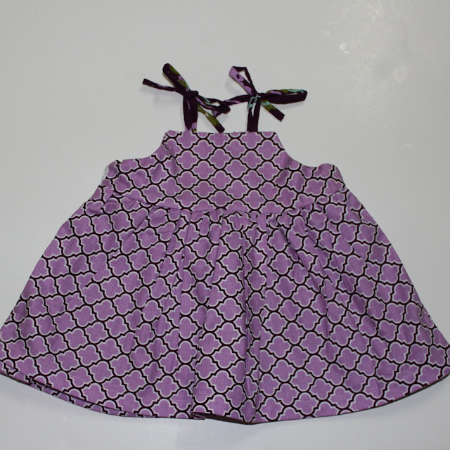 reversible baby dress
