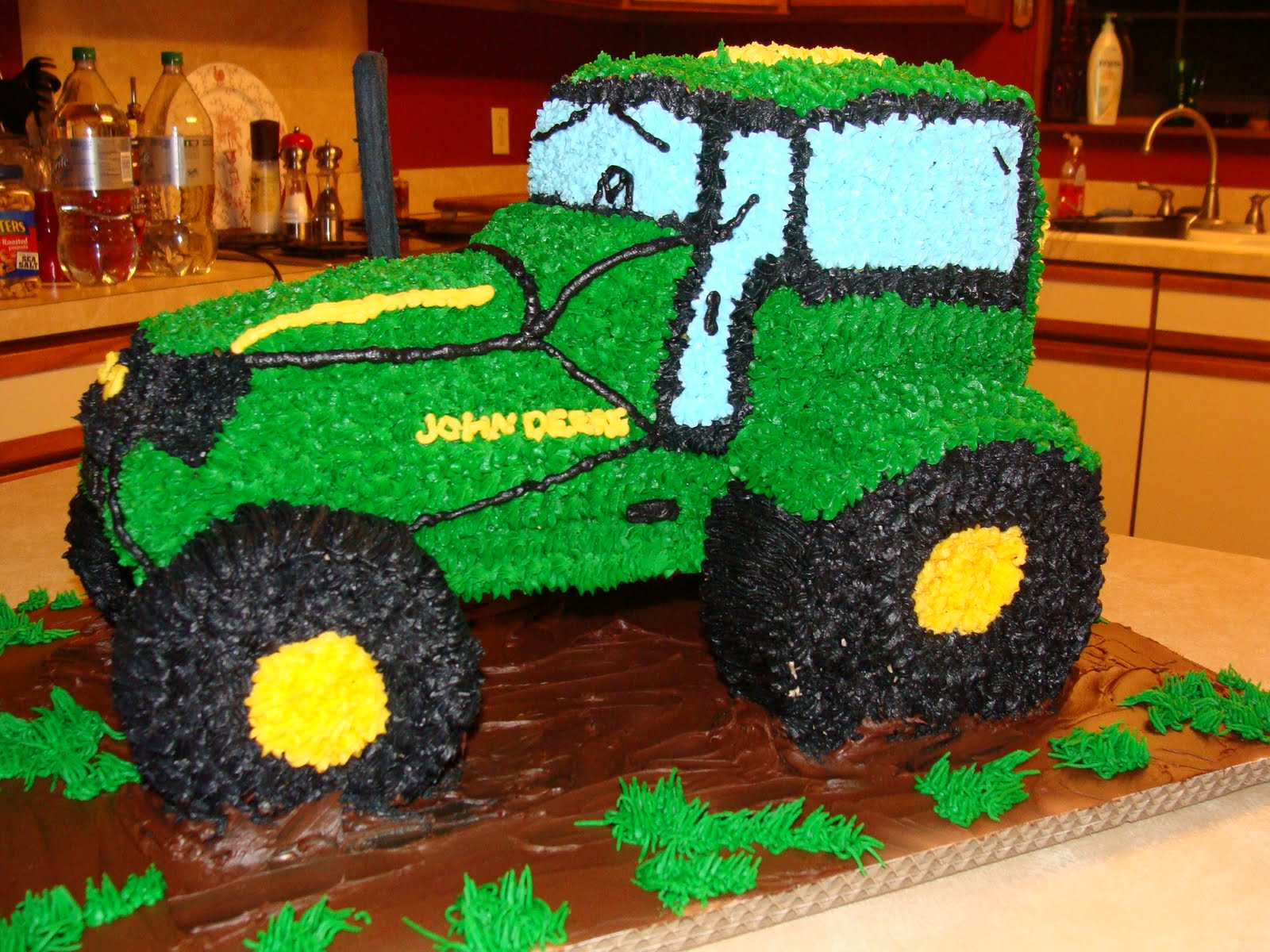 Tractor Cake Labels Kids Birthday