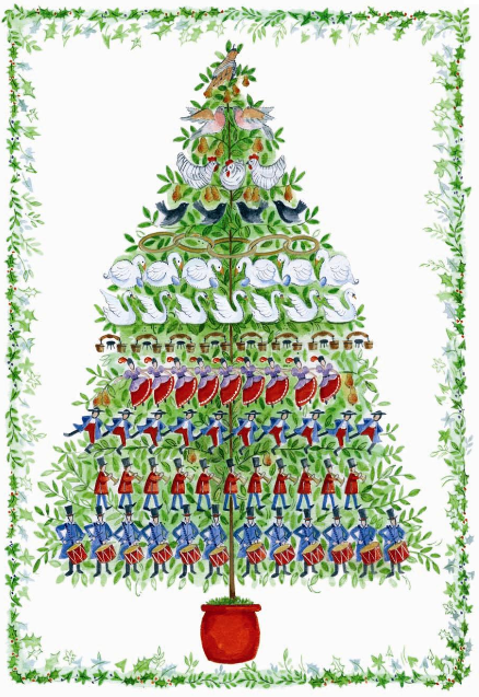 i chose this particular picture because it displays all 78 gifts in a triangle on each of the twelve days of christmas her true love got her a triangle - 12 Day Of Christmas
