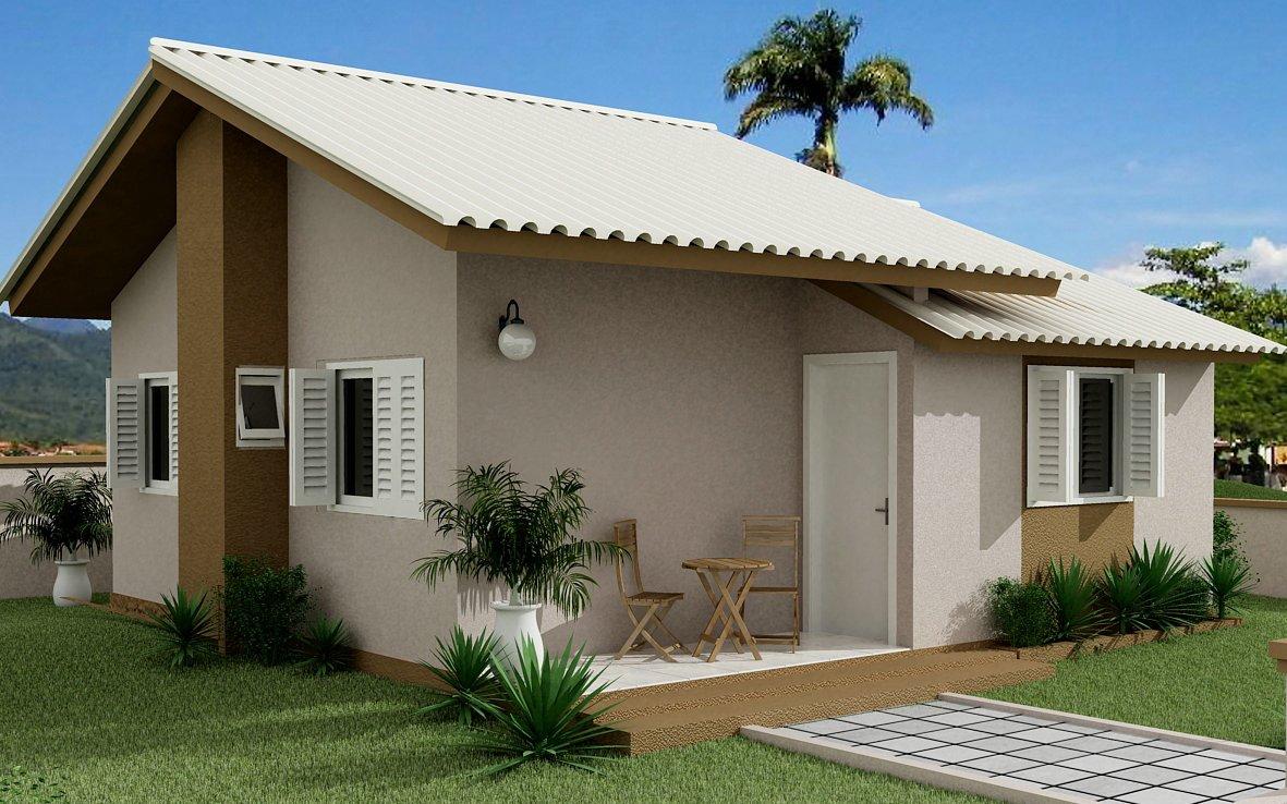 Fachada de casas simples coisas pra ver for Fachada de casas